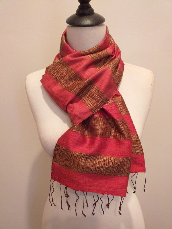NFD185D SEAsTra Handwoven Silk scarf