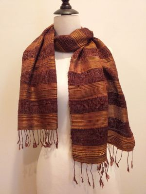 NFD189B SEAsTra Handwoven Silk scarf