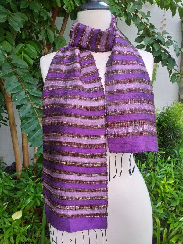 NNC512b Thai Silk Hand Dyed Striking Scarf