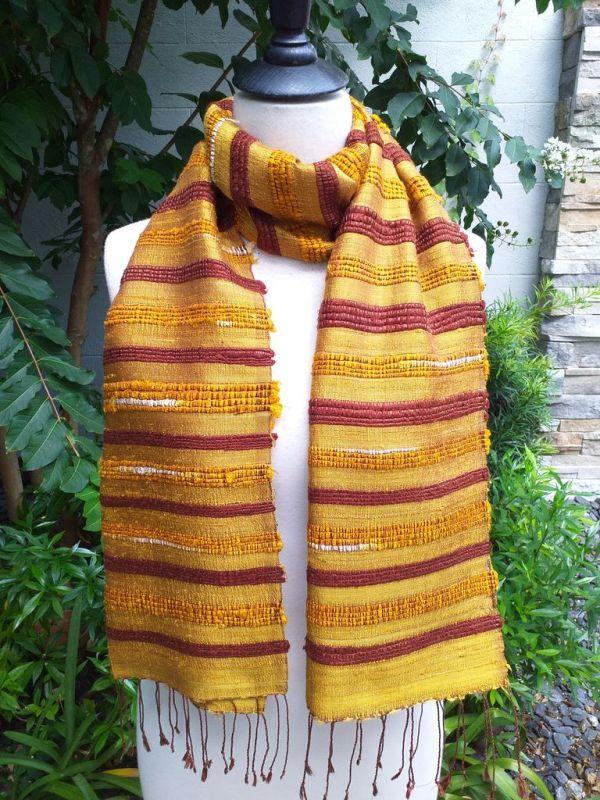 NND013b Thai Silk Hand Dyed Striking Scarf