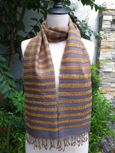 NND405b Thai Silk Hand Dyed Striking Scarf
