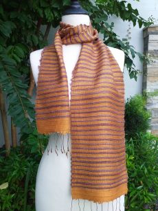 NSC150b Thai Silk Hand Dyed Striking Scarf