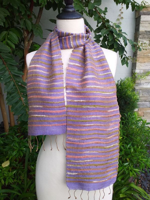 NSC162b Thai Silk Hand Dyed Striking Scarf
