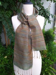 NSC311d Thai Silk Hand Spun Stylish Scarf