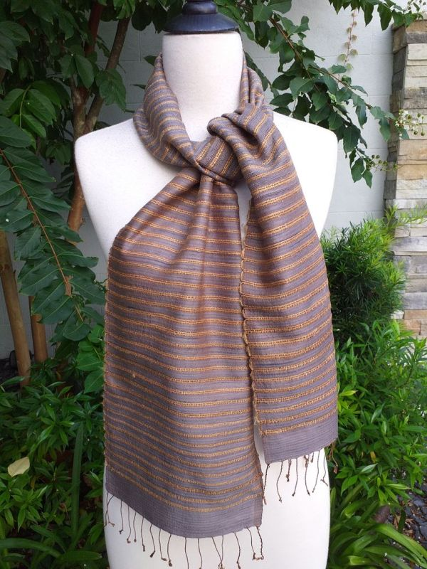 NSC405d Thai Silk Hand Spun Stylish Scarf
