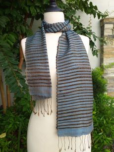 NSC522b Thai Silk Hand Dyed Striking Scarf