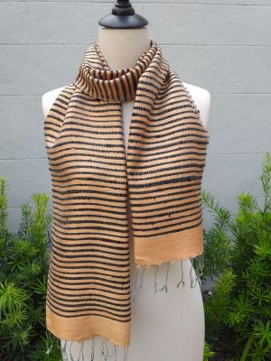 NSD001a Thai Silk Hand Woven Colorful Scarf