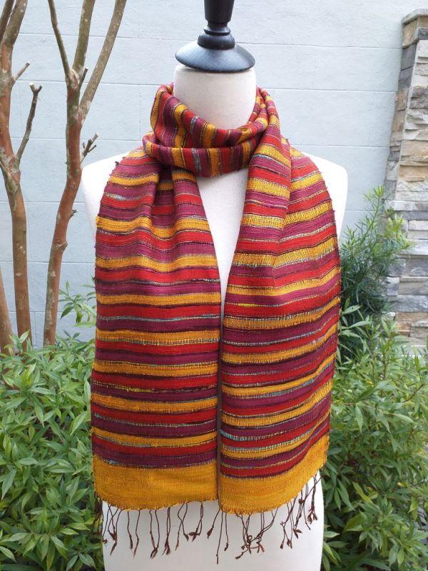 NSD203D SEAsTra Thailand Silk Scarves