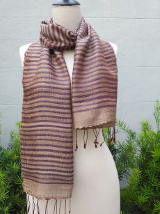 NSD500a Thai Silk Hand Woven Colorful Scarf