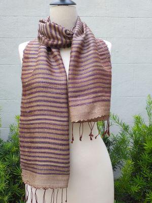 NSD500a Thai Silk Hand Woven Colorful Scarf