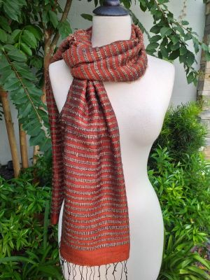 NSS008e Thai Silk Hand Made Stylish Shawl