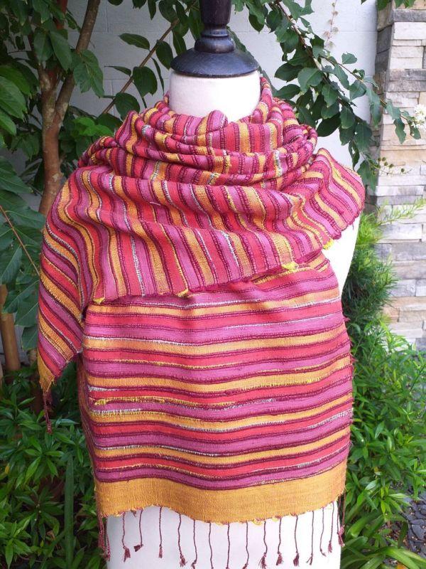NSS203e Thai Silk Hand Made Stylish Shawl