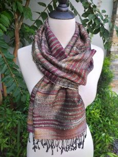 NSS631d Thai Silk Hand Spun Stylish Shawl