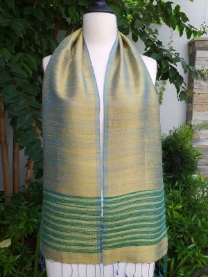 NTC077a Thai Silk Hand Woven Colorful Scarf