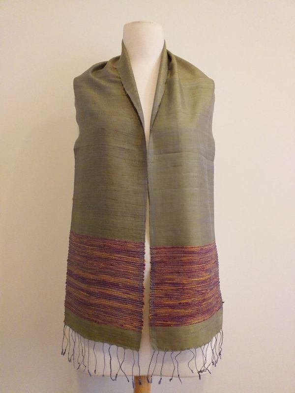NTC100A SEAsTra Handwoven Silk Scarf