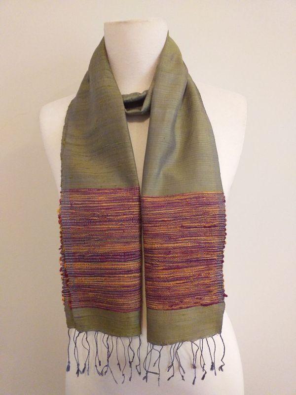 NTC100B SEAsTra Handwoven Silk Scarf