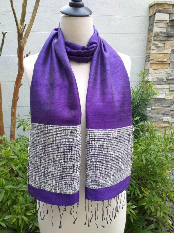 NTD902D SEAsTra Handwoven Silk Scarves