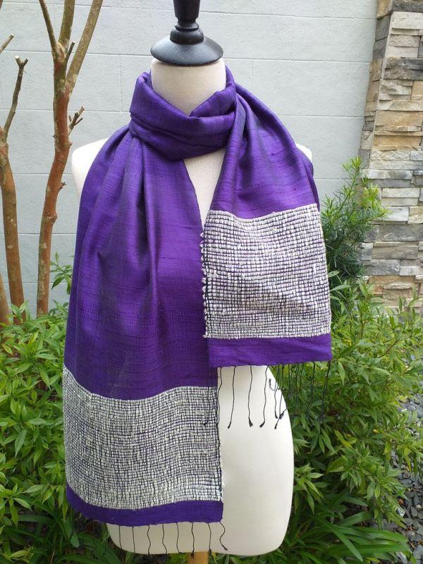 NTD902E SEAsTra Handwoven Silk Scarves