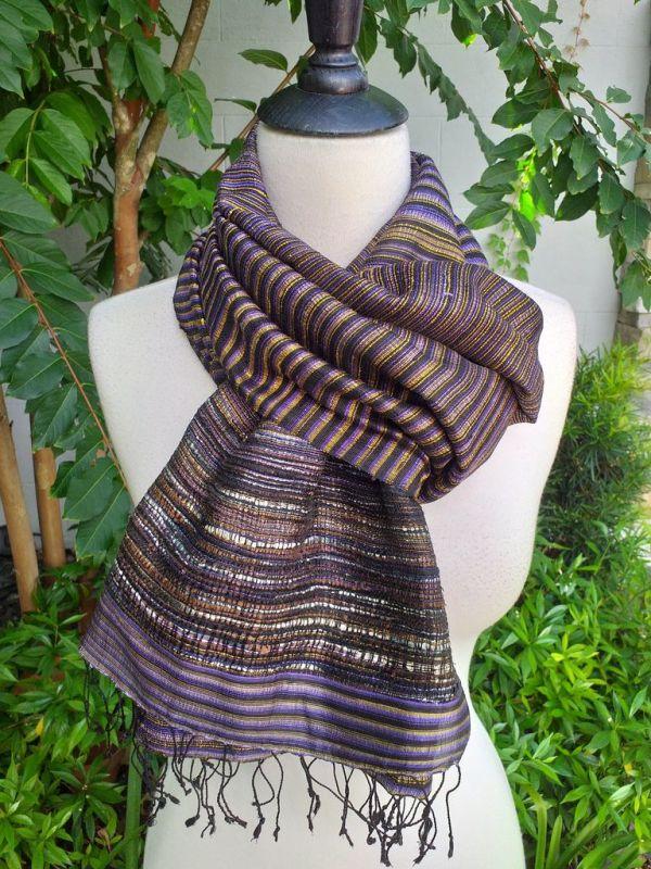 NTS952e Thai Silk Hand Made Stylish Shawl
