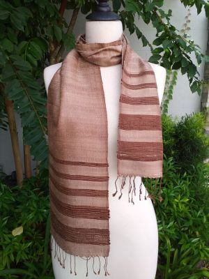 NWC042b Thai Silk Hand Dyed Striking Scarf
