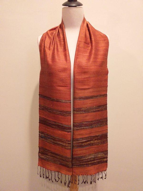 NWD001A SEAsTra 100 Raw Silk Scarf