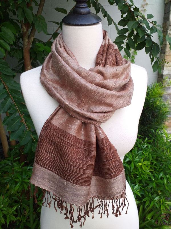 NWS042d Thai Silk Hand Spun Stylish Shawl