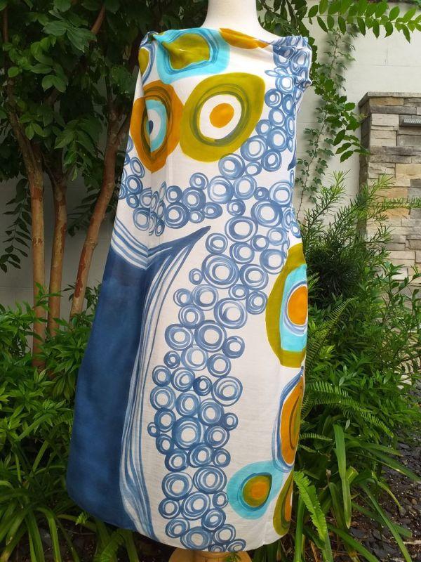 PIQ135d 50 Cotton 50 Silk Scarf Hand Painted Unique Square