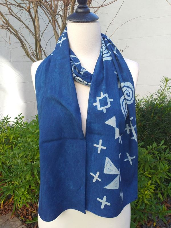 PYC053D 100 Natural Rayon Fiber Hand Painted Scarf