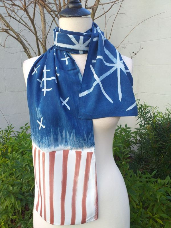 PYC055A 100 Natural Rayon Fiber Hand Painted Scarf
