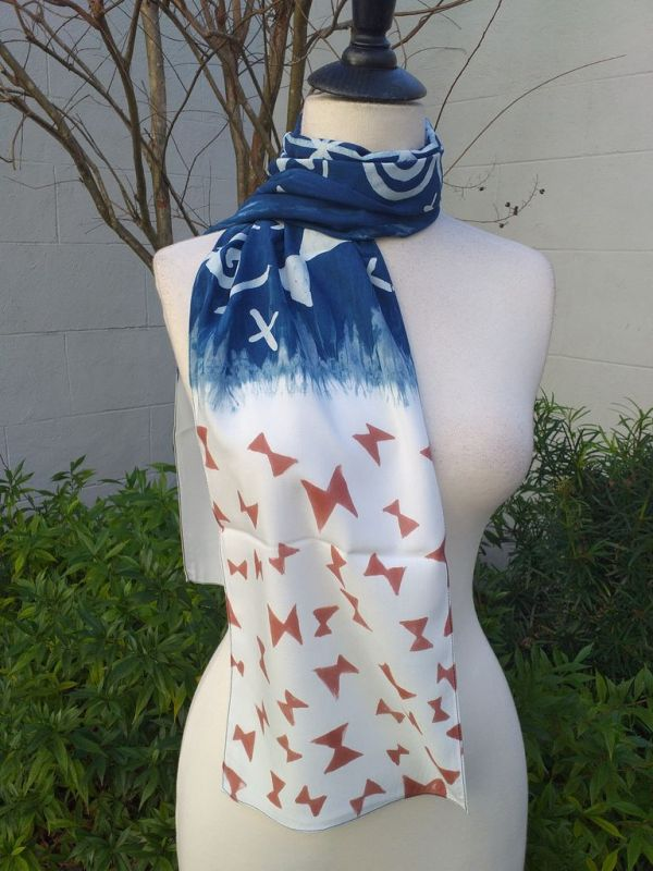 PYC058B 100 Natural Rayon Fiber Hand Painted Scarf