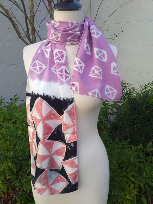 PYC067A Original Designs Hand Painted Skinny Scarf