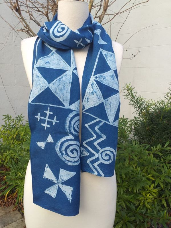 PYC080A Original Designs Hand Painted Skinny Scarf