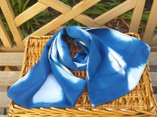 WEI775A Rayon Indigo Tie Dye Infinity Scarf