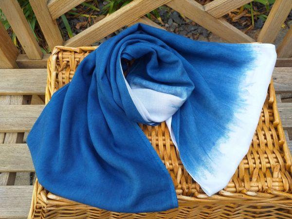 WEI784A Rayon Indigo Tie Dye Infinity Scarf