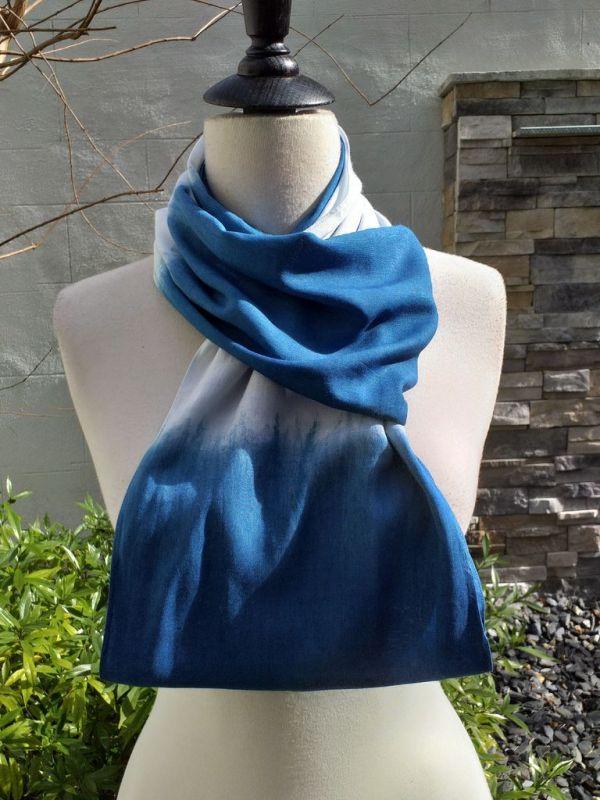 WEI784C Rayon Indigo Tie Dye Infinity Scarf