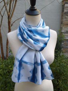 WES852D Rayon Indigo Tie Dye Scarves