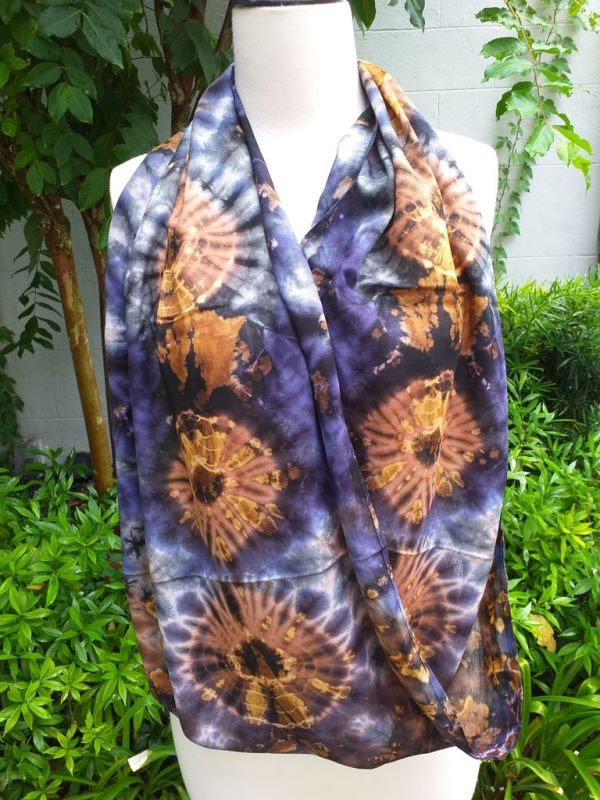 XDI667a Bright Color TieDye Rayon Infinity Scarf