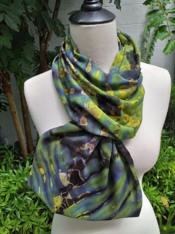 XDI708c Bright Color TieDye Rayon Infinity Scarf