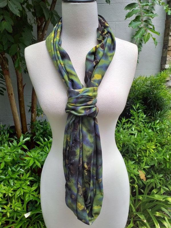 XDI708d Bright Color TieDye Rayon Infinity Scarf