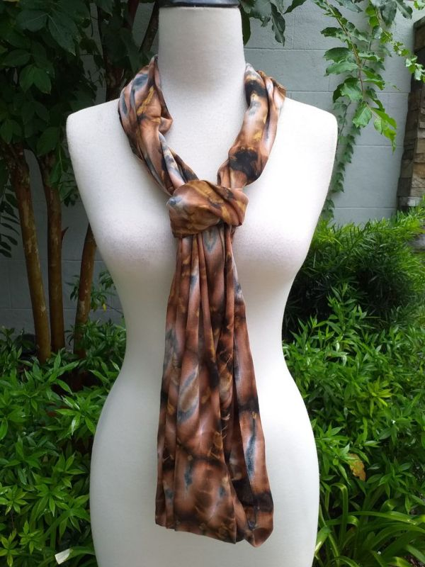 XDI855d Bright Color TieDye Rayon Infinity Scarf