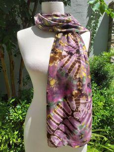 XED670d Bright Color TieDye Rayon Versatile Scarf