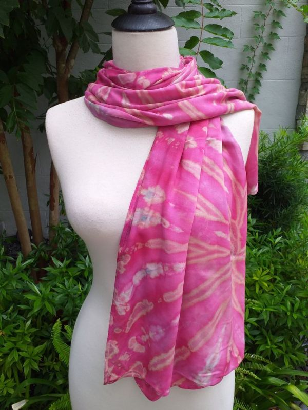 XED681d Bright Color TieDye Rayon Versatile Scarf