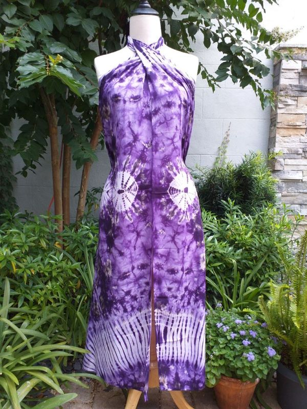 XEQ877E Rayon Scarf Hand Tie Dye Square Bright Color Hemmed Uniquel