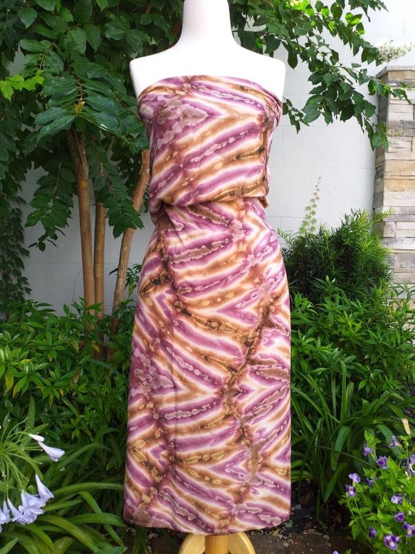 XEQ880B Rayon Scarf Hand Tie Dye Square Bright Color Hemmed Original