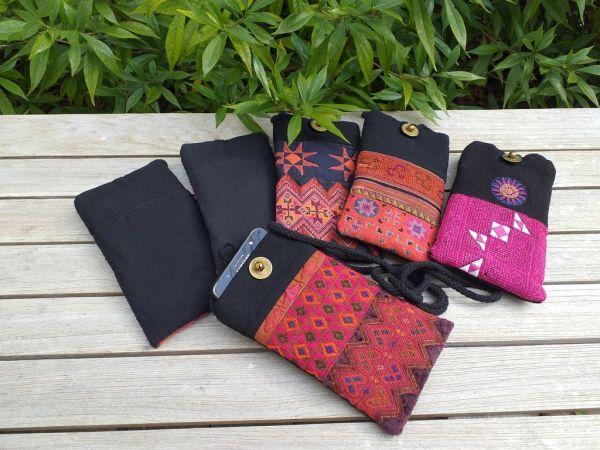 RMM010b Traditional Fabric Cell Phone Eyeglass Bag