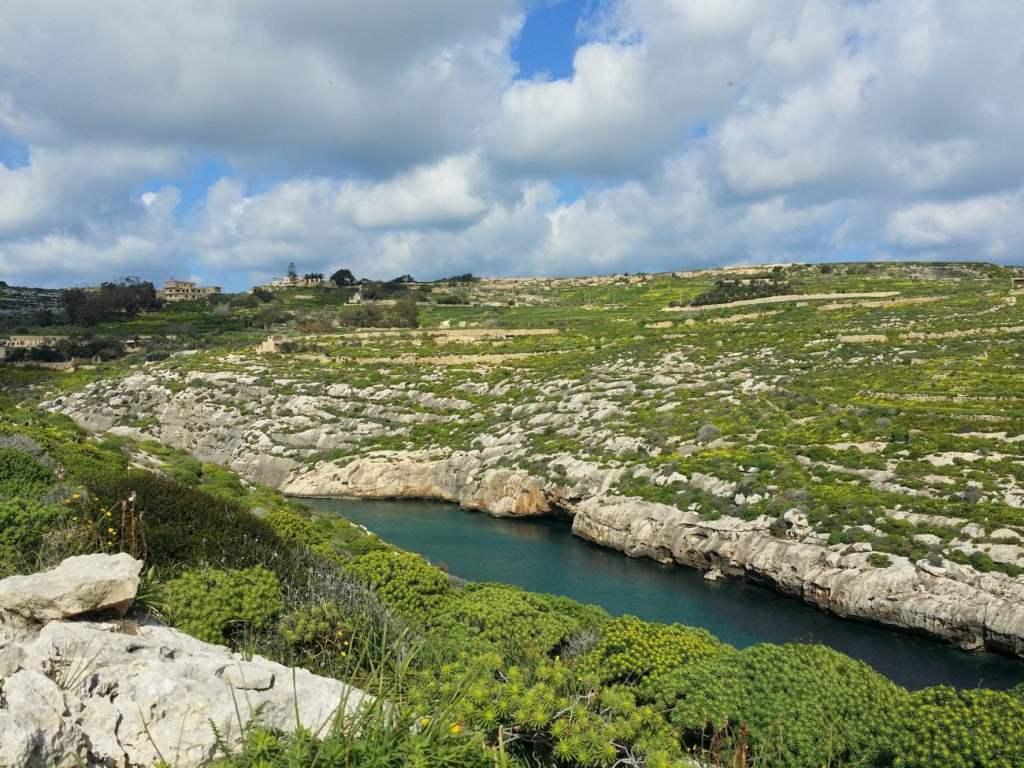 Mgarr ix-Xini Creek in Gozo