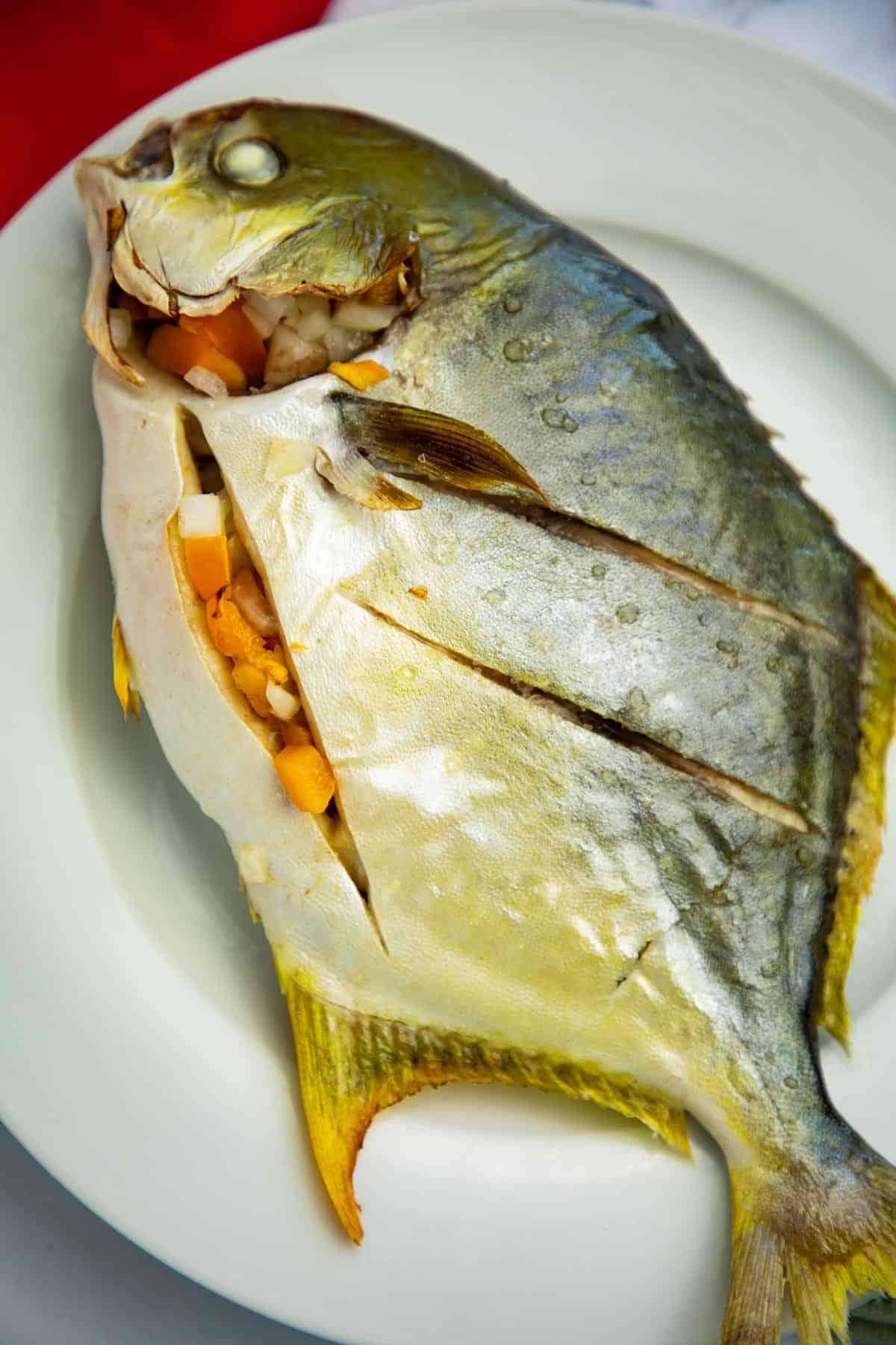 Baked Pompano Fish via @seasiderecipes