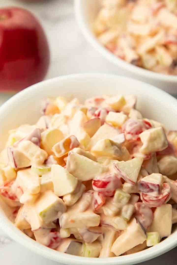 Simple Apple Maraschino Salad finished