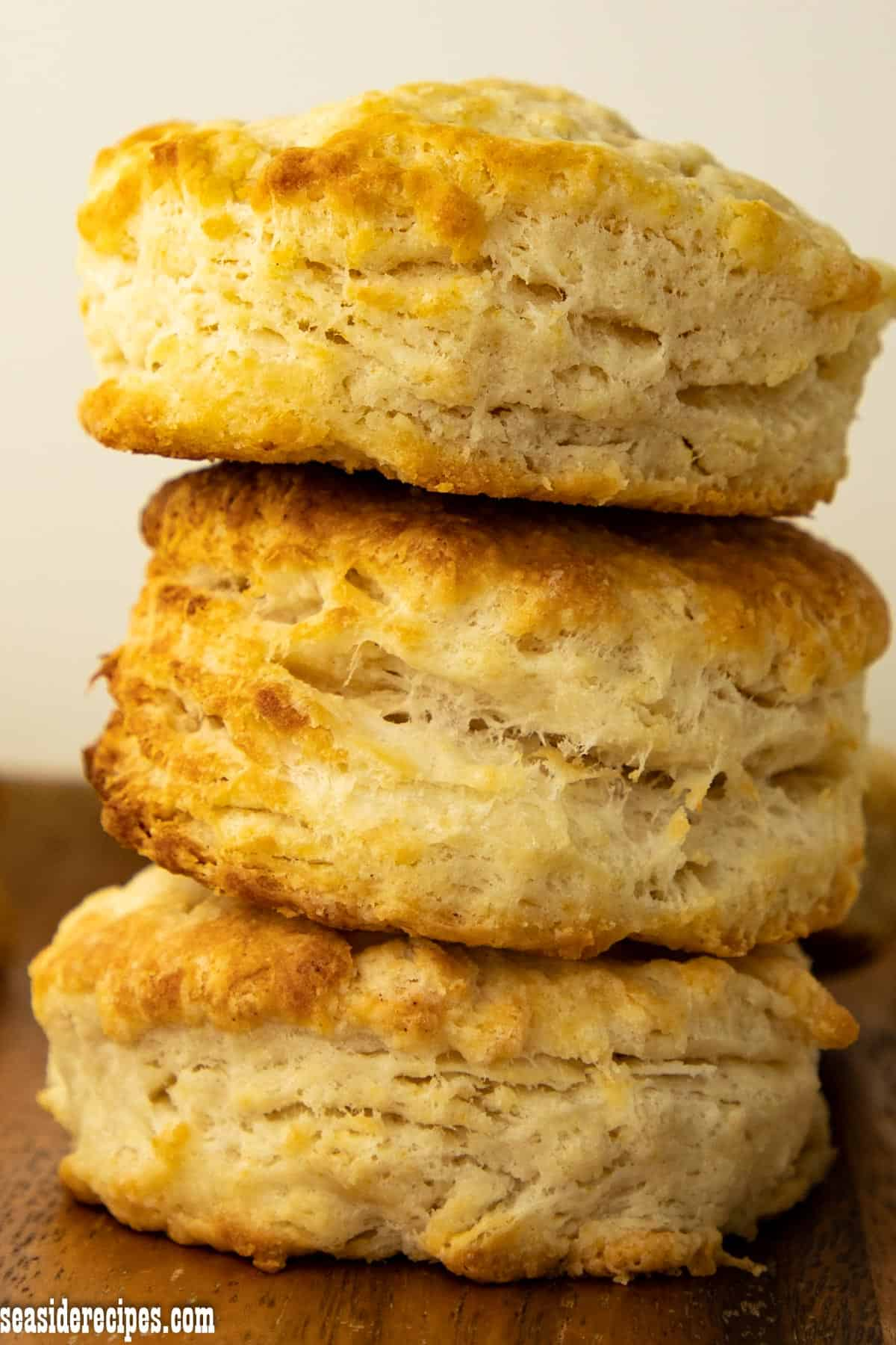 Homemade Biscuits made from scratch is the best. These biscuits are sweeter than usual biscuits. Perfect pair for soups and stews, or even coffee. via @seasiderecipes