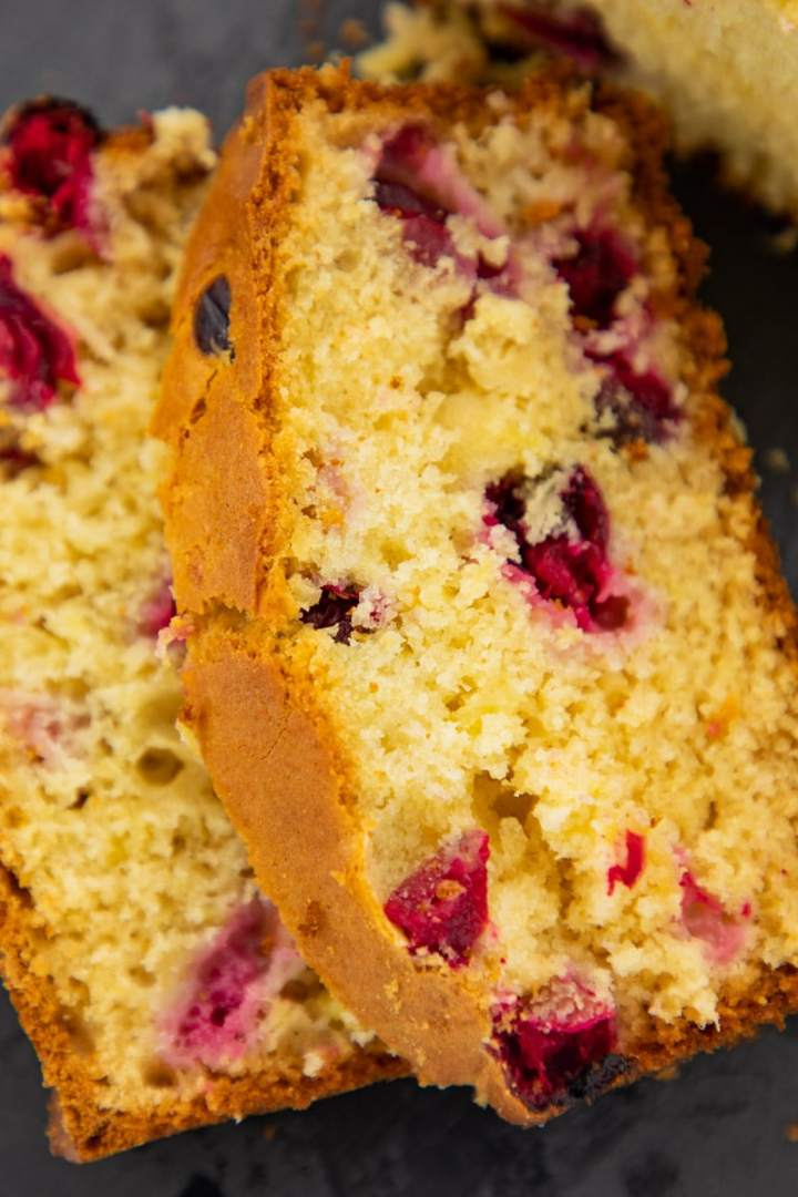 sliced cranberry pineapple bread